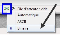 Filezilla - Transfert en binaire